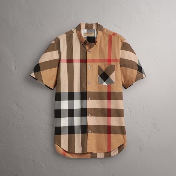 Burberry Men s Short Sleeve Shirt 5fdad12fa9